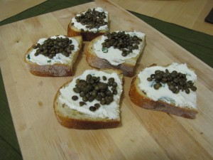 goat cheese with lentils