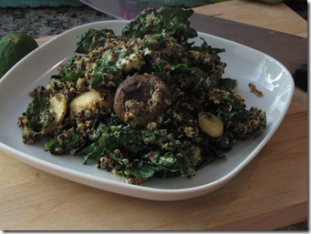 quinoa_kale_trumpet mushrooms_protein_bowl