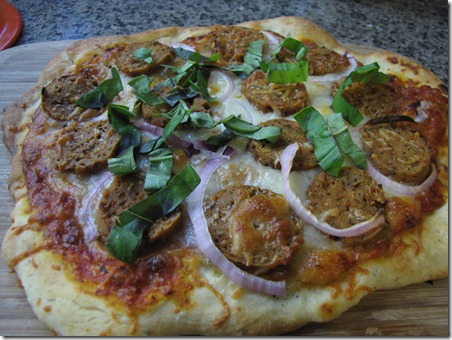 baked_veggie_sausage_and_onion_pizza_fresh_basil