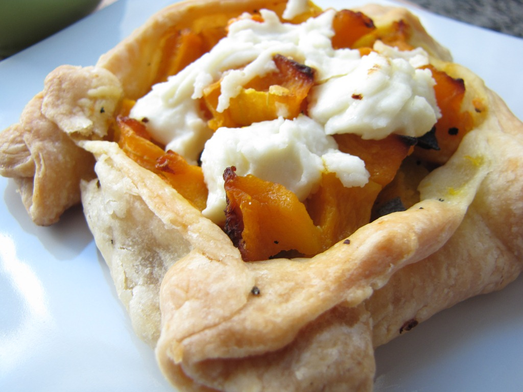 recipe: butternut squash goats cheese puff pastry [25]